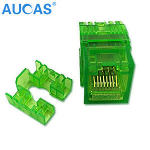 Durable In Use UTP CAT5E 180 Degree Keystone Jack Module For Telecom Parts