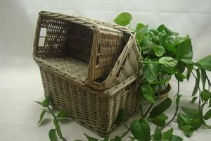 Elegant new style handmade woven wicker storage basket