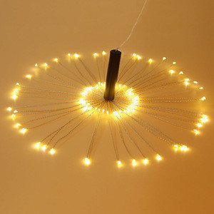 Hot Sales Battery Operated Hanging Starburst Light Micro Mini Starry Starburst Twig Light Firework Led Lights For Wedding Decor