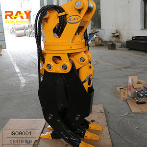 Hydraulic rotator grapple for excavators hydraulic rotating grab