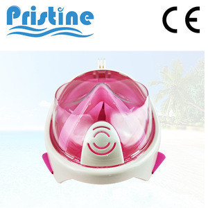 International certified Anti fog full face snorkel mask with gopro mount
