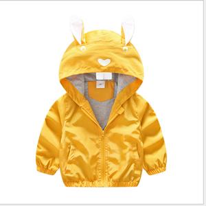 KS30621A Hot sale cute ear design zip up baby hoodie jacket