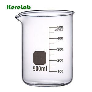 Laboratory borosilicate glass beaker bong