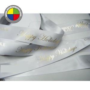 Luxury Custom Logo Foiled Gloss Stain Gift Ribbon,Cake Decorating Ribbon For Cake