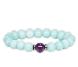 Mala Good luck bracelet Balance bracelet Reiki healing stone bracelet Stress relief gift Birthday gift for sister gift for mom