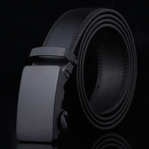 Men Luxury Brand Male Strap 110 cm Length Men's Belt Automatic Ratchet Buckle with Cow Genuine Leather Belts