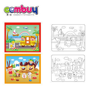 New product educational common sense painting set water drawing book