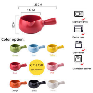 Nonstick Milk Pan Butter Coffee Warmer Small Ceramic Milk Pot, Kitchen Cooking Pot for Noodle, Baby Food