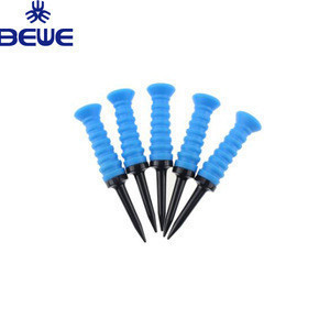 Plastic material new arrival good price custom color rubber top soft unique golf tees