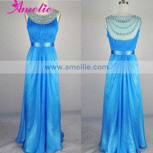 Real Sample Crystal beaded Neckline maternity prom dresses 2013