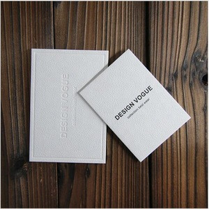 Specialty paper materials new hangtag design clothes swing tag with opp bag