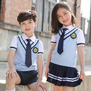 Summer kindergarten garden wear Primary school pupil British College style children's day new school uniform for kids
