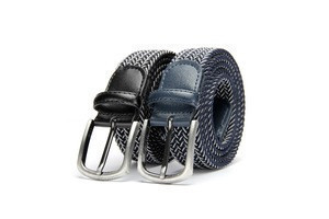 Unisex casual stretch Polyester webbing belt knitted elastic cotton belt
