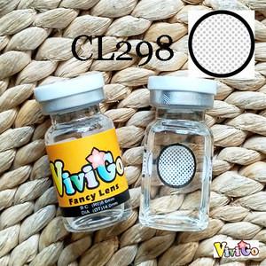 VIVIGO brand color soft contact lens CRAZY EYEWEAR CL298 white mesh manson