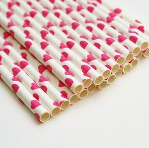 Wedding party supplies and decoration paper straw