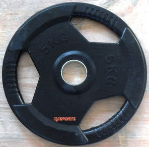 Weight lifting /used Tri-grip weight plate / GYM fitness exercise