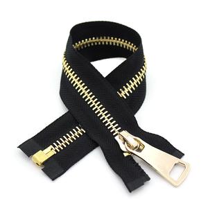 YAB Manufacturer Cheap Gold Teeth Metal Brass Bags Zippers 5#