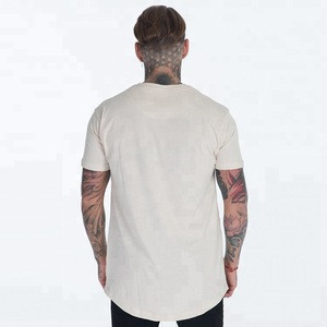 YiHao Dry Fit 95% Cotton 5% Spandex Lightweight Scoop Bottom Cut T Shirts Wholesale