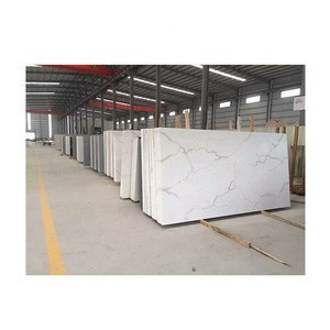 Yunfu stone Artificial Chinese Calacatta White Quartz Stone Slab for Countertop and Island