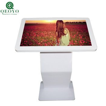 Qeoyo High Quality 27 inch Touch Screen Kiosk Indoor Digital Horizontal Advertising Player
