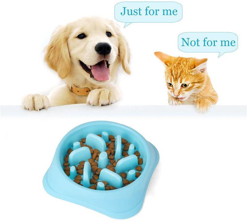 Cheap Pet Slow Eating Dog Bowl Feeder Dog Food Bowl Plastic Dog Slow Feeder Cat Pet Feeder NonSlip