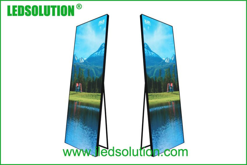 PP2.5 Floor Standing Led Displays WIFI USB Indoor Led Poster