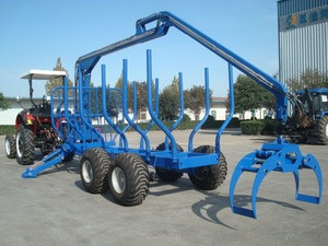 1 ton PTO forestry machinery grapple crane with biggest capacity upto 12 ton