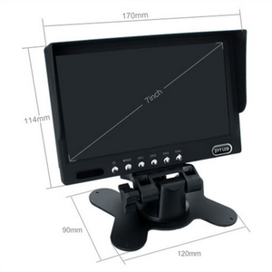 7 Inch HD 4 Split Quad Video Display 4 Video Input TFT LCD Car Rear View Monitor