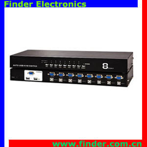 8 ports KVM switch, 8 input 1 output support PS/2, USB keyboard and mouse