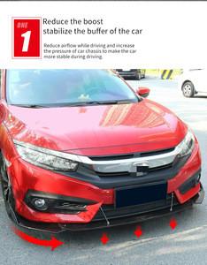 ABS Car shovel black three-segment sottoparaurti universale spoiler frontal protector 3 pc delantero universal front bumper lip