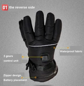 Battery heated gloves motorcycle battery heated hunting gloves battery heated mittens