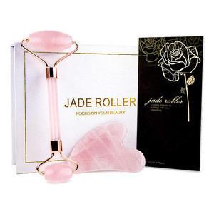 Beauty Massage Tool Rose Quartz Jade Roller Gua Sha Set Jade Roller for Face