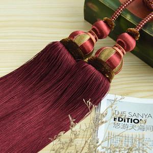 Curtain Brush Tiebacks Tassel Fringe Hanging Belt Balls Curtain Accessories Holderback Tie Backs Lashing Bind