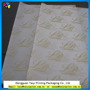 Custom Design High quality gift wrapping tissue paper