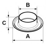 Fashion production metal/brass eyelet for bags/shoes/garments/curtain.