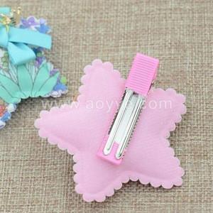 Fashion pure fresh cloth art stars cute cartoon hair ribbon bows clips baby girls hair accessories cheap hairpin headdress