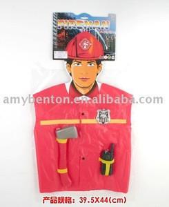 fireman cloth,boy's clothing,simulate fireman