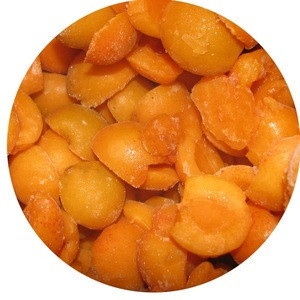 Frozen apricot fruits