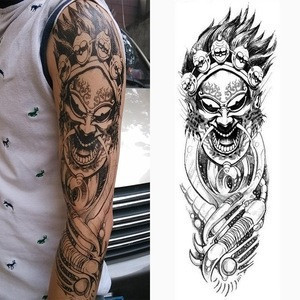 Full Arm Temporary Tattoo, Temporary Tattoo Black tattoo Body Stickers for Man Women Accept custom, welcome to customize