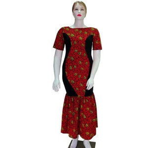 High quality african style wax fabric african long wax dresses