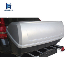 HOMFUL Universal Car Roof Luggage Carrier Camping Portable Car Roof Luggage Box Roof Box