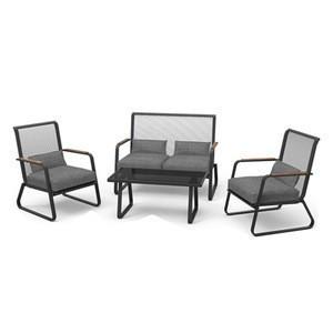 Hot sale garden Steel 4pcs cushion sofa set outdoor chair