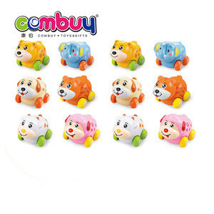 Hot selling friction inertial set kids promotional gifts small plastic farm animal toy