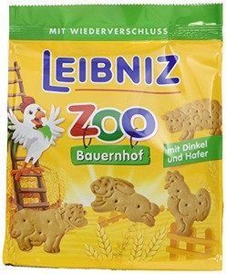 Leibniz Zoo farm biscuits / cookies with spelled and oats 125g (Zoo Bauernhof)