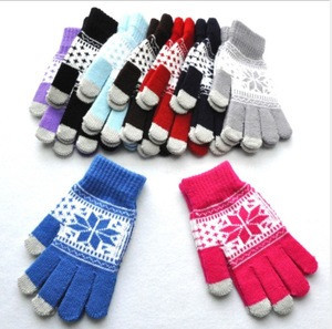 New design Maple leaf pattern Touch Screen Hand Warmer / Gloves gloves for touch screen