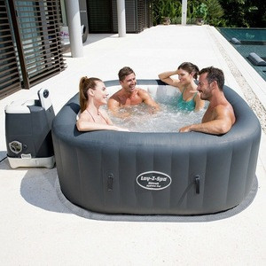 NEW Inflatable Hot Tub Pool Lay-Z SPA 4 Person Spas Bubbles With Cover