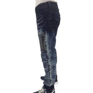 New model men motor motorcycle denim jeans skinny runway biker denim jeans