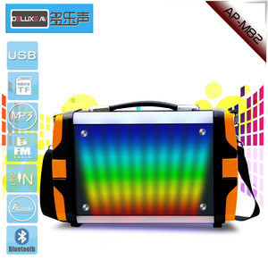 Portable speaker with RGB light for out door use with karaoke function
