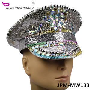 Punk Sequin cap rainbow rivet colorful diamond party hat