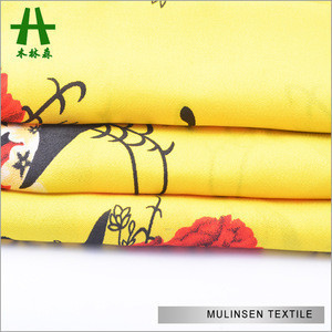 Quickly Sold Out Cheap Factory Stock Printed 100% Polyester Wool Peach Fabric